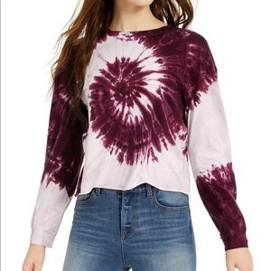 REBELLIOUS ONE tie-dye long sleeve T shirt